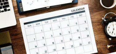 Calendar 2019/2020